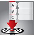 target arrow banner infographic vector image