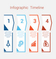 timeline infographic for four position vector image vector image
