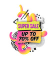 trendy geometric sale backgrounds with marble vector image vector image