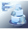 Wedding cake with winter frozen glass design vector image vector image