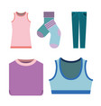 white background of colorful set elements clothes vector image vector image