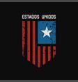 estados unidos t-shirt and apparel design with vector image