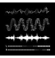 sound waves set vector image