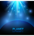 Abstract background with space and planet vector image