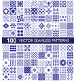 100 seamless pattern collection geometric vector image