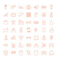 49 body icons vector image vector image
