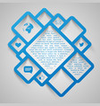 abstract web design squares vector image