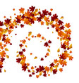 autumn swirl leaves vector image vector image