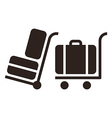 Baggage cart - travel icons vector image vector image