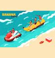 banana boating vector image vector image