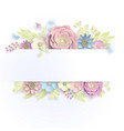 banner template floral paper art with butterfly vector image