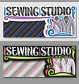 banners for sewing studio vector image vector image