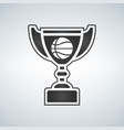 basketball trophy cup award icon in flat style vector image vector image