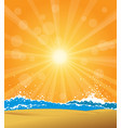 beach with sunrise vector image vector image