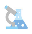 biology laboratory microscope test tube equipment vector image