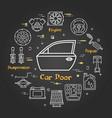 black linear banner of car door vector image