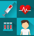 blood donation tools icon vector image