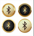 bluetooth golden icon vector image