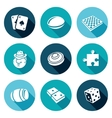 Board games Icons Set vector image vector image