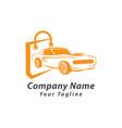 car shop logo template design car market logo vector image vector image