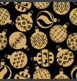 christmas balls pattern seamless vector image