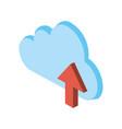 cloud storage with up arrow icon image vector image vector image
