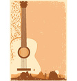 Concert guitar poster music festival on ola paper vector image vector image