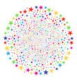 confetti star explosion sphere vector image vector image