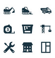 construction icons set collection of lifting hook vector image vector image