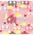cute pink ice cream cartoon seamless pattern vector image vector image
