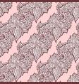 elegant hand drawn seamless paisley pattern vector image vector image