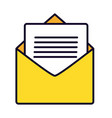email envelope message vector image vector image