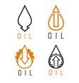 fall and rise of oil prices logo set vector image vector image