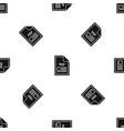 file pdf pattern seamless black vector image vector image