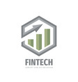 fintech business logo design finance icon vector image