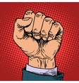 Fist hand business concept vector image vector image