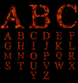 Flame fonts collection vector image