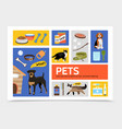 flat pet shop infographic concept vector image vector image