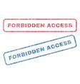 forbidden access textile stamps vector image vector image