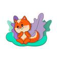 fox character cute vector image vector image