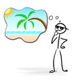 happy smiling man planning holidays vector image