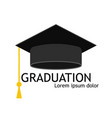 hat graduate cap for student university or vector image vector image
