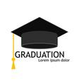hat graduate cap for student university vector image vector image