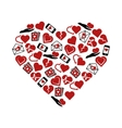 heart icons in heart vector image