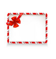 holiday stripe frame-06 vector image vector image