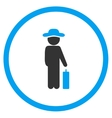 Human Figure Baggage Rounded Icon vector image vector image