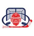 ice hockey elements cartoon vector image