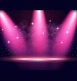 illumination of the stage podium spotlights vector image vector image