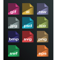 image formats set vector image vector image