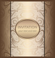 invitation card with golden ornaments vector image vector image